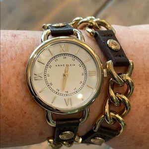 Anne Klein Double Wrap Watch